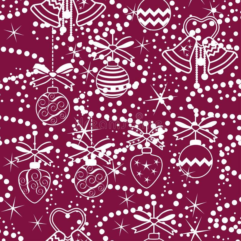 Het naadloze ornament van Kerstmis stock illustratie