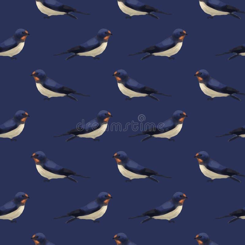 Het naadloze patroon met leuk slikt vector illustratie