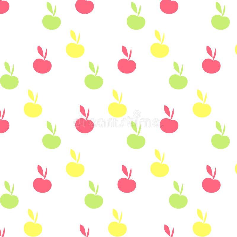 Het naadloze patroon van Apple op transparante achtergrond royalty-vrije illustratie