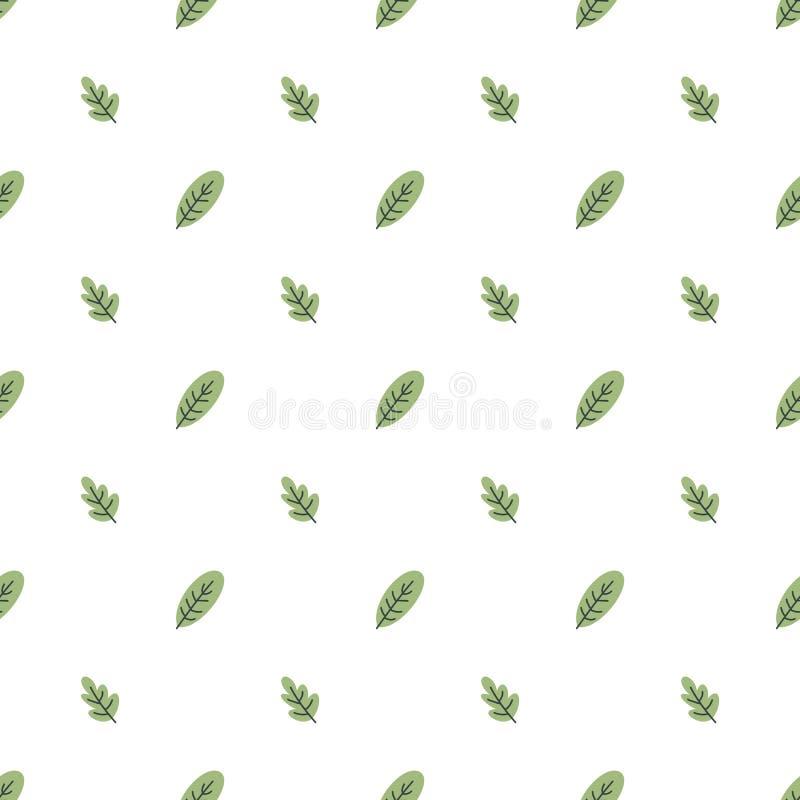 Het naadloze patroon van bladeren stock illustratie