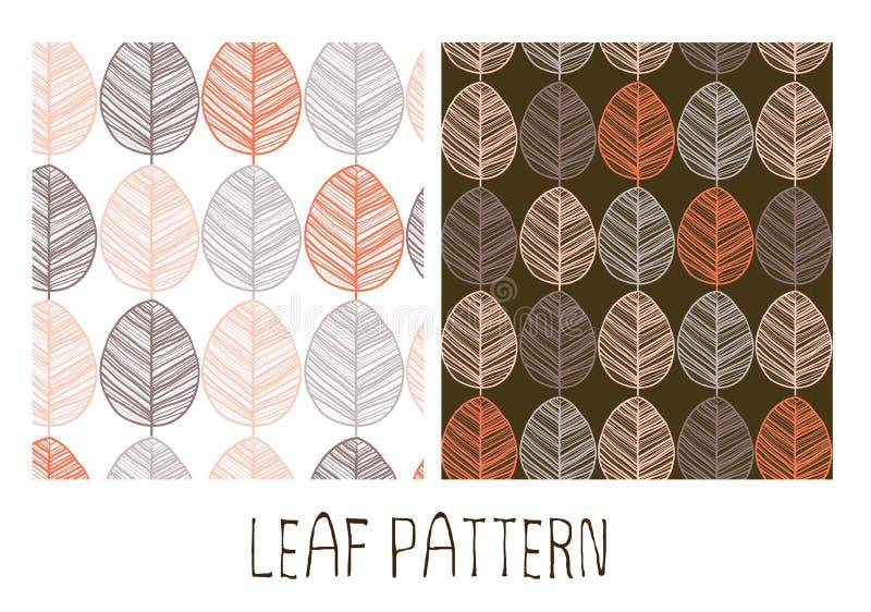 Het naadloze patroon van bladeren stock foto