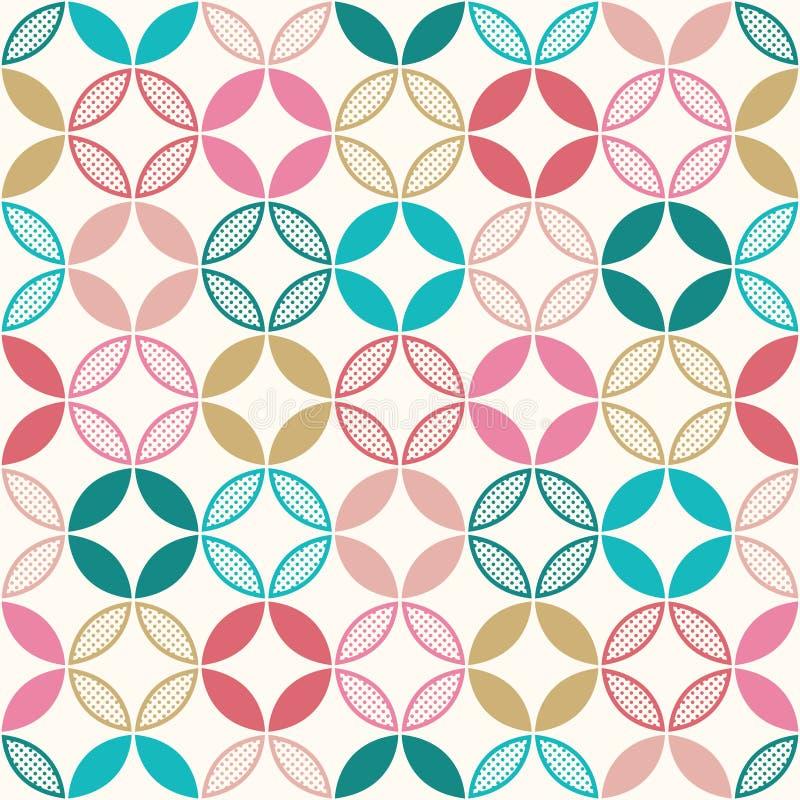 Het naadloze patroon van cirkeldiamanten stock illustratie