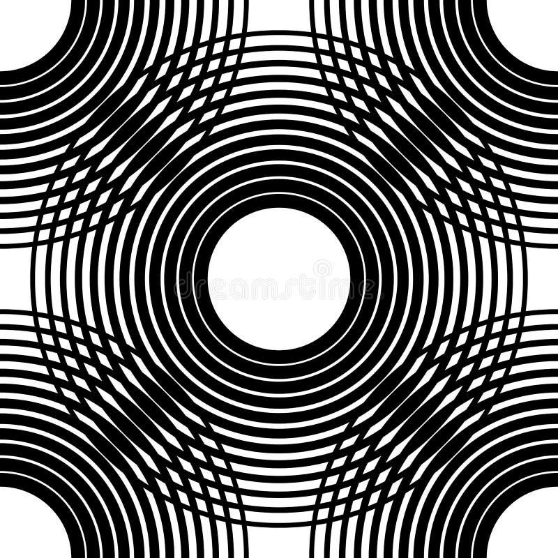 Het naadloze patroon van cirkels Achtergrond met net, netwerk van intersec royalty-vrije illustratie