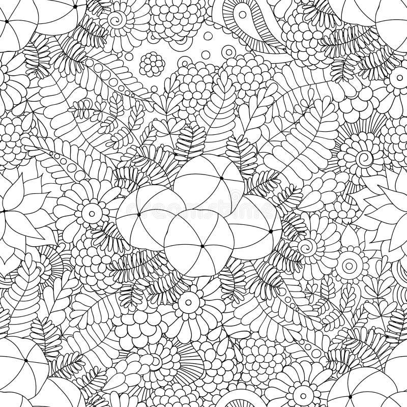 Het naadloze patroon van de Amlakrabbel vector illustratie