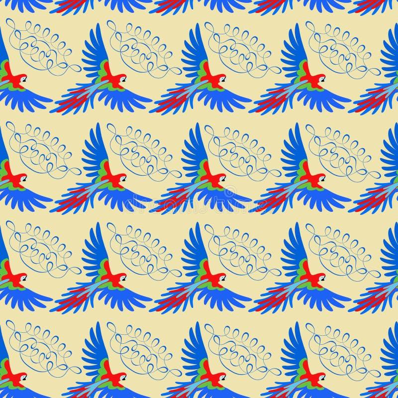 Het naadloze patroon van de arapapegaai vector illustratie