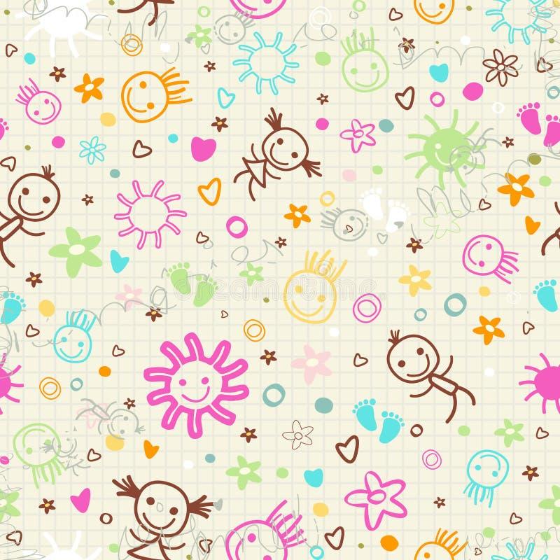 Het naadloze patroon van de baby vector illustratie