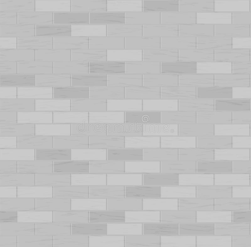 Het naadloze patroon van de baksteen Vector illustratie Grijze kleur Het element van het ontwerp Achtergrond textuur vector illustratie