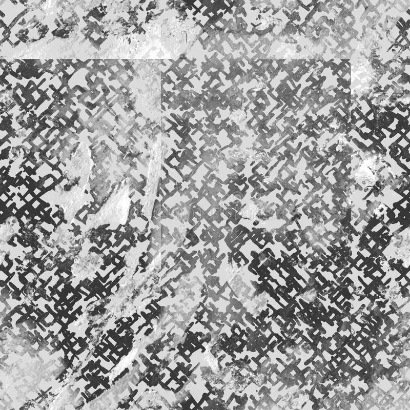 Het naadloze patroon van de bandkleurstof Hand getrokken shiboridruk royalty-vrije stock fotografie