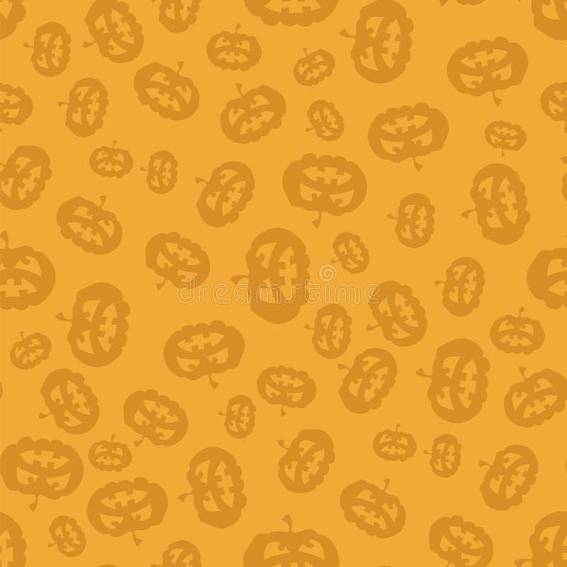 Het Naadloze Patroon van de beeldverhaalpompoen stock illustratie