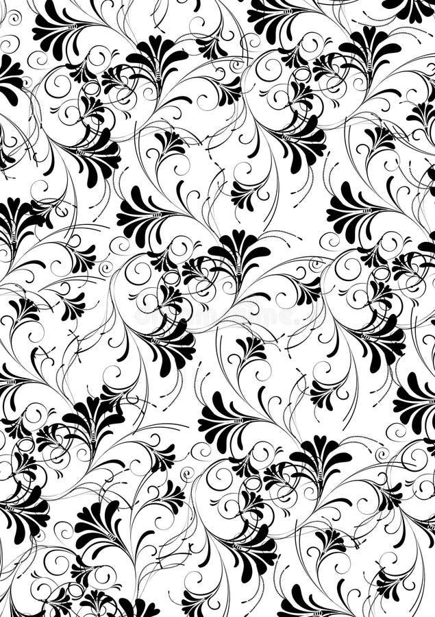 Het naadloze patroon van de bloem stock illustratie