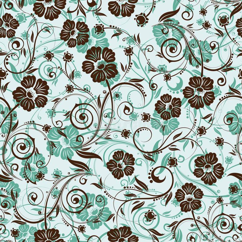 Het naadloze patroon van de bloem vector illustratie
