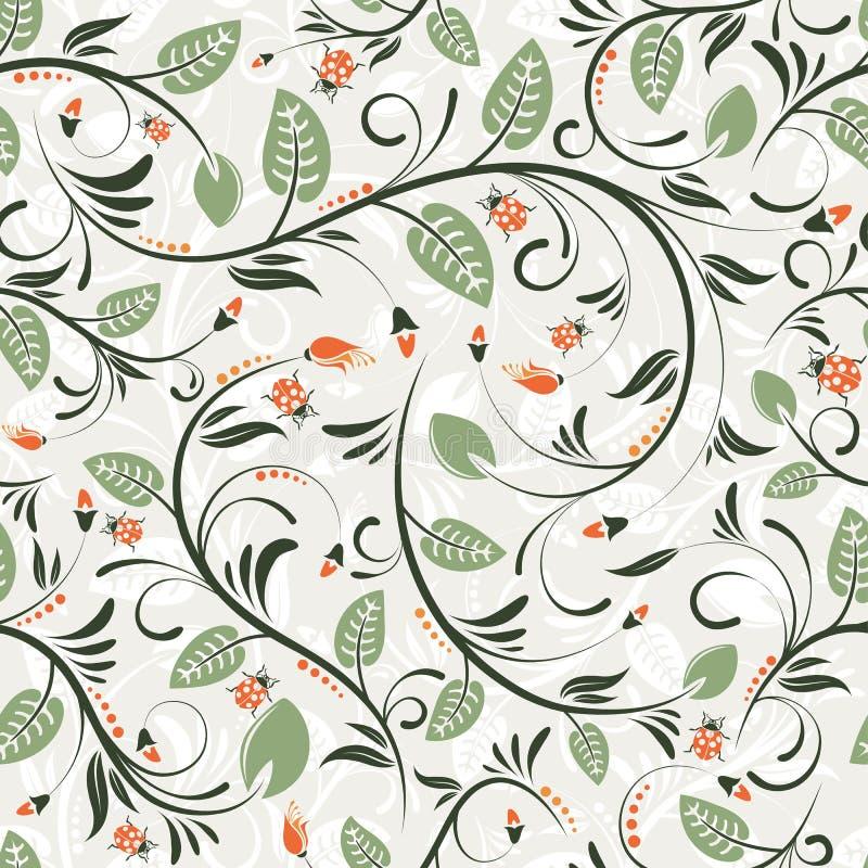 Het naadloze patroon van de bloem royalty-vrije illustratie