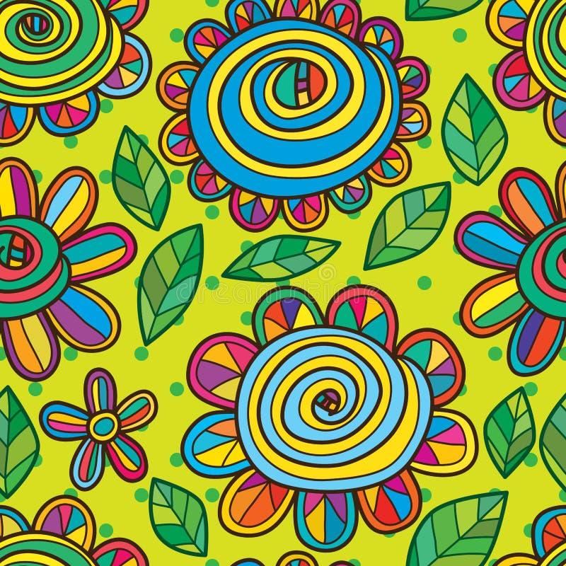Het naadloze patroon van de bloemslak royalty-vrije illustratie