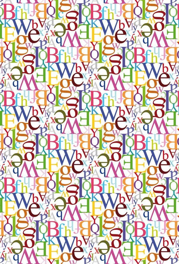 Het naadloze Patroon van de Brief vector illustratie