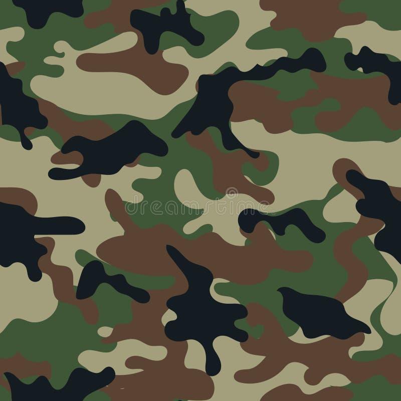Het naadloze patroon van de camouflage stock illustratie