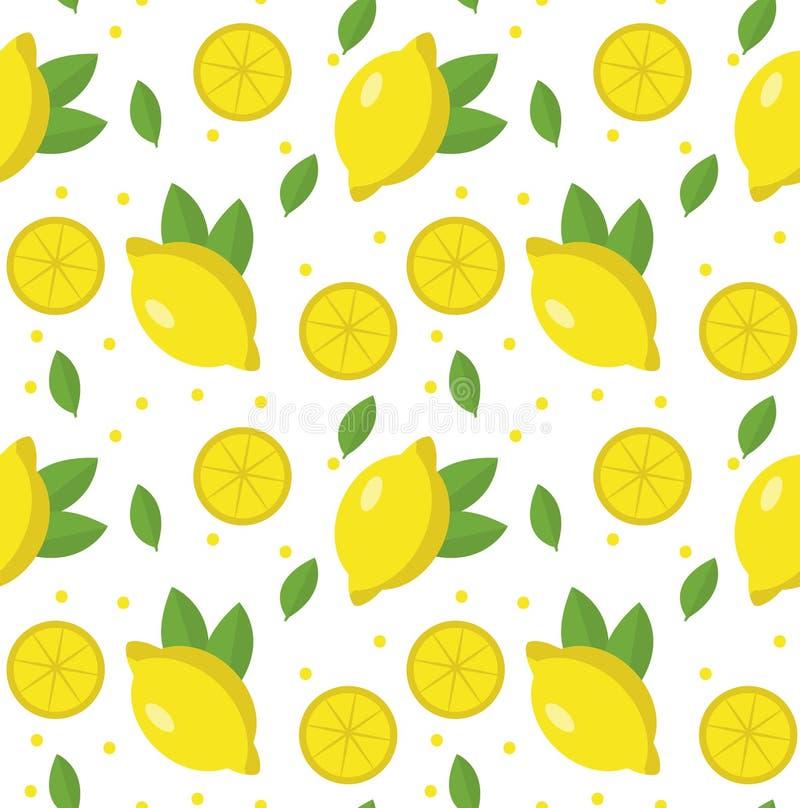 Het naadloze patroon van de citroen Limonade eindeloze achtergrond, textuur Vruchten Vector illustratie vector illustratie
