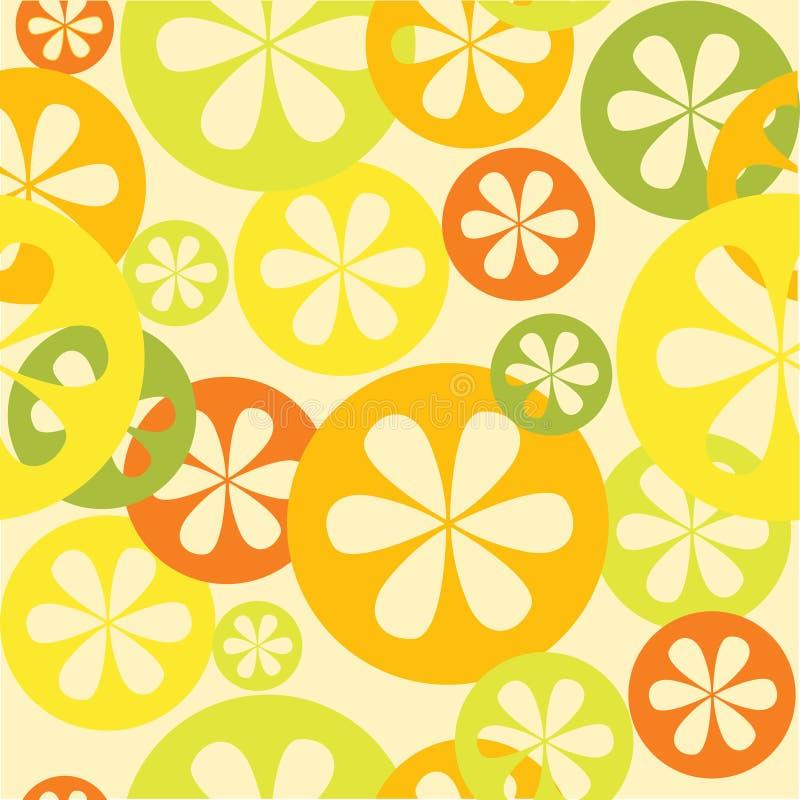 Het naadloze patroon van de citrusvrucht royalty-vrije illustratie