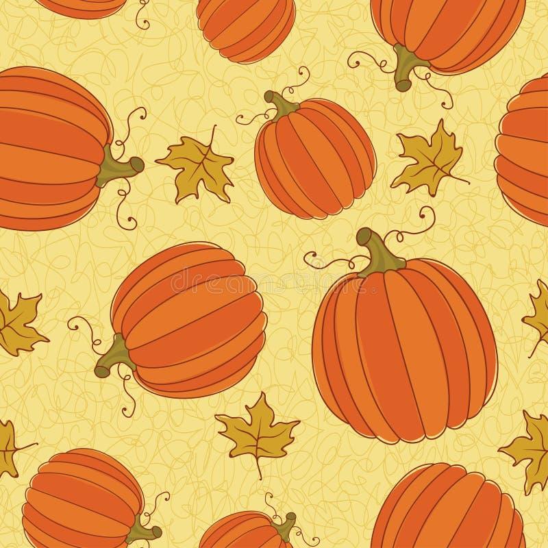 Het naadloze patroon van de dankzegging. stock illustratie