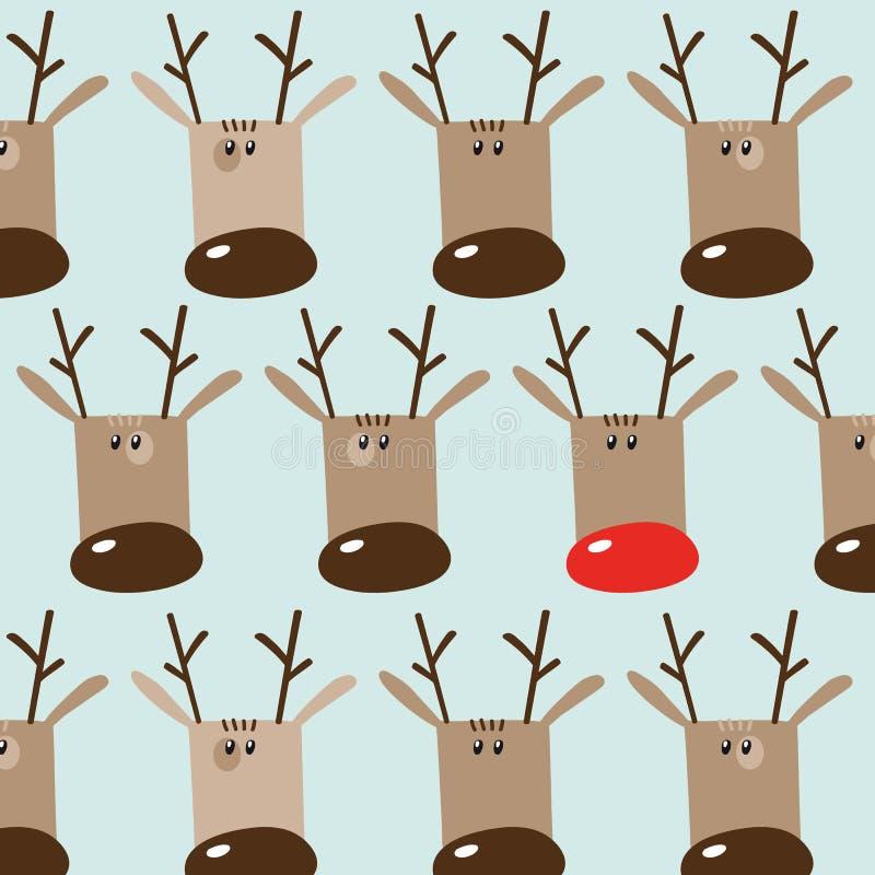 Het naadloze patroon van de de wintervakantie met grappige beeldverhaaldeers op lig royalty-vrije illustratie