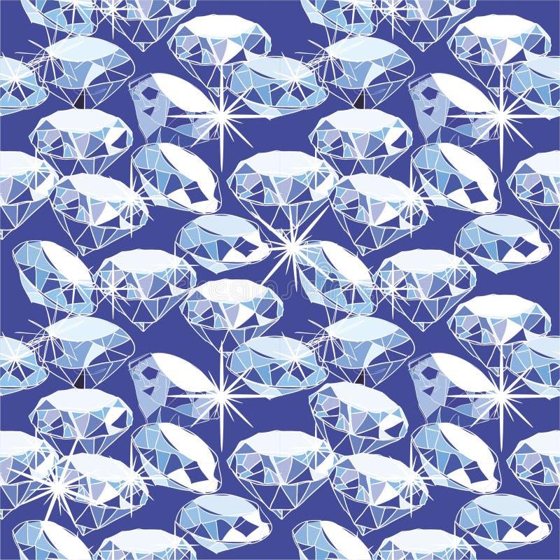 Het naadloze patroon van de diamant royalty-vrije illustratie