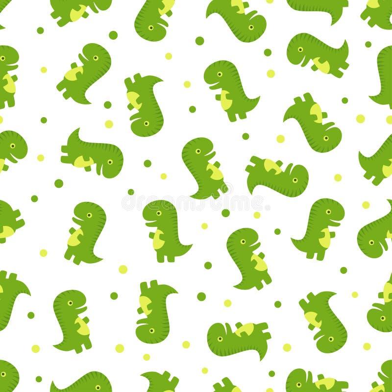Het naadloze patroon van de Dinosaurus vector illustratie