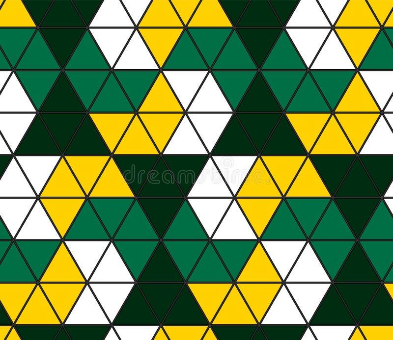 Het naadloze Patroon van de Driehoek Geometrisch behang van de oppervlakte Unieke achtergrond vector illustratie