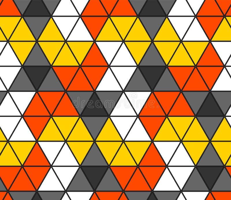 Het naadloze Patroon van de Driehoek Geometrisch behang van de oppervlakte Unieke achtergrond royalty-vrije illustratie