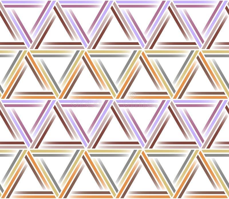 Het naadloze Patroon van de Driehoek Geometrische Samenvatting vector illustratie