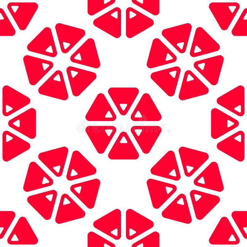 Het naadloze patroon van de driehoeksgrapefruit vector illustratie