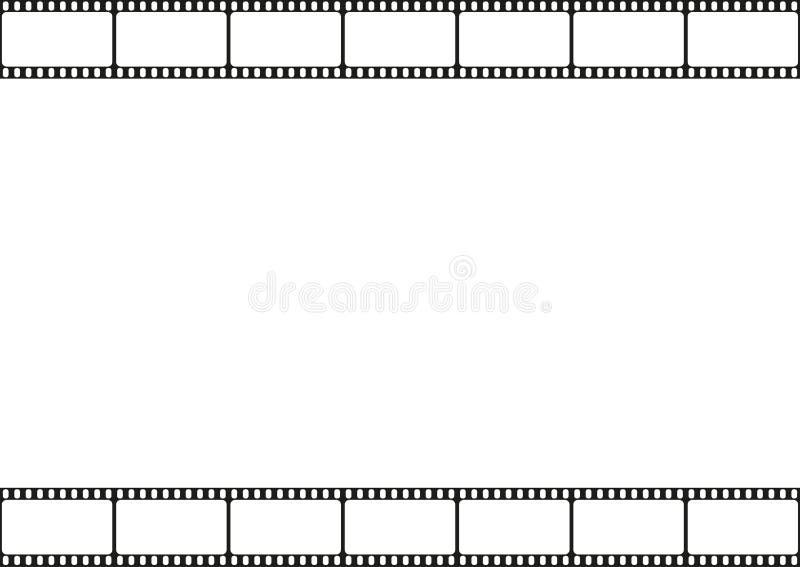 Het naadloze patroon van de filmstrook, bioscoopkader, het malplaatjegrens van filmstroken, vector stock illustratie