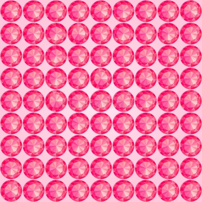 Het Naadloze Patroon van de gem vector illustratie
