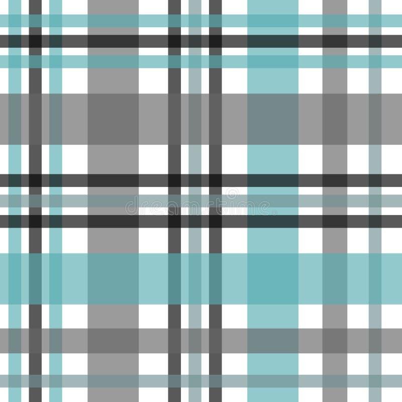 Het naadloze patroon van de geruit Schots wollen stofplaid  vector illustratie