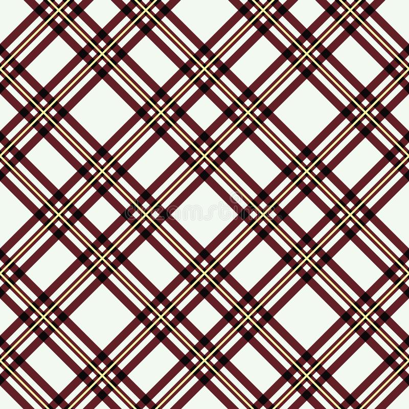 Het naadloze patroon van de geruit Schots wollen stofplaid De geruite druk van de stoffentextuur in grijs, taupe, beige en wit stock illustratie
