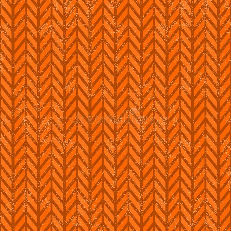 Het naadloze patroon van de grunge vectorchevron vector illustratie