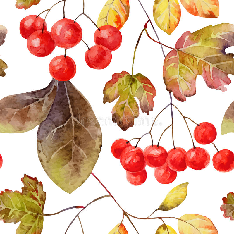Het naadloze patroon van de herfst vector illustratie