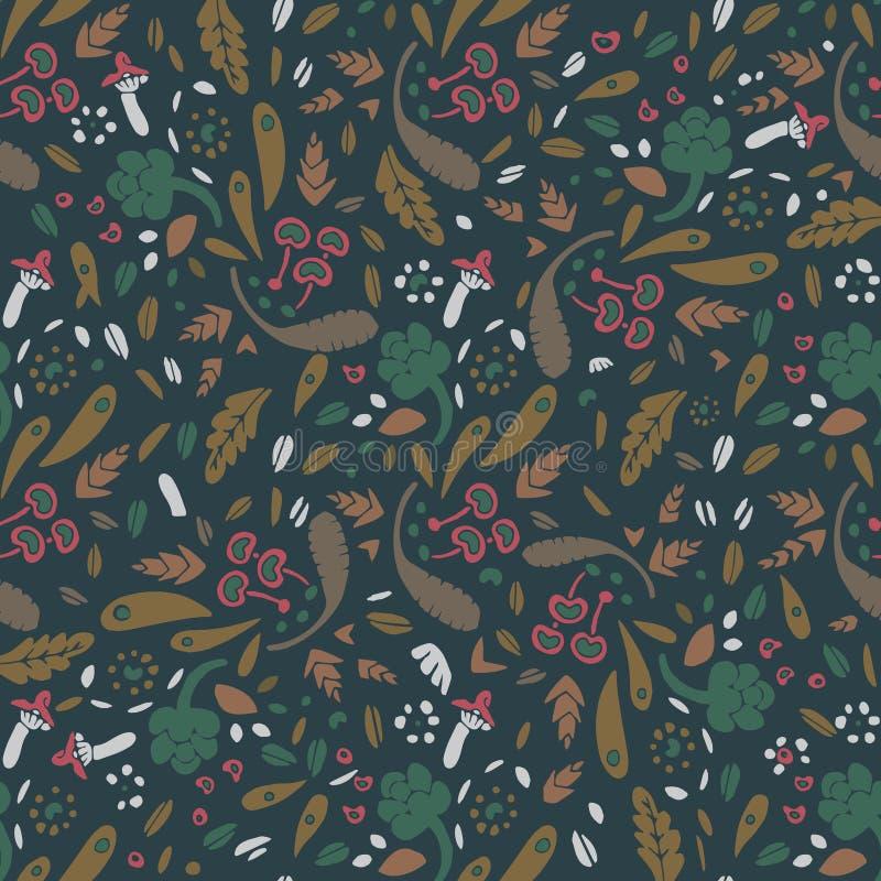 Het naadloze patroon van de herfst royalty-vrije illustratie