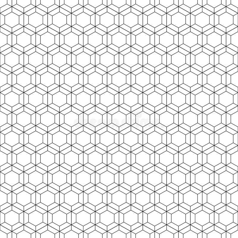 Het Naadloze Patroon van de honingraat Vector illustratie Hexagonale textuur Netachtergrond Geometrisch ontwerp Moderne modieuze  royalty-vrije illustratie
