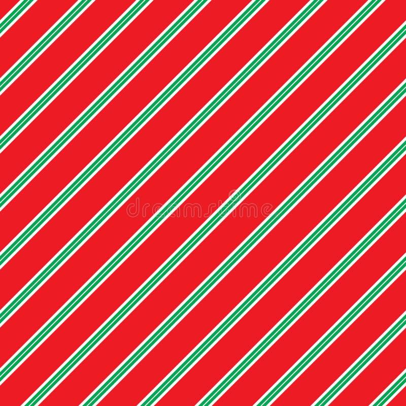 Het naadloze Patroon van de Kerstmisstreep Ideaal voor het verpakkende document van de Kerstmisgift stock illustratie