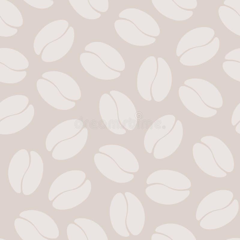 Het naadloze patroon van de koffieboon stock illustratie
