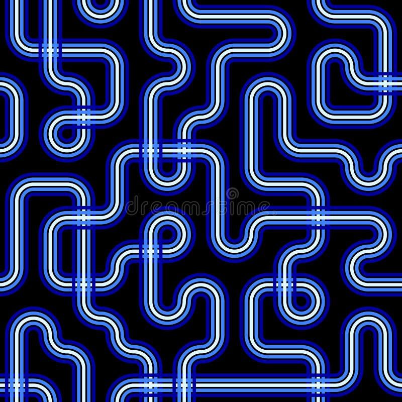 Het naadloze Patroon van de Kring vector illustratie