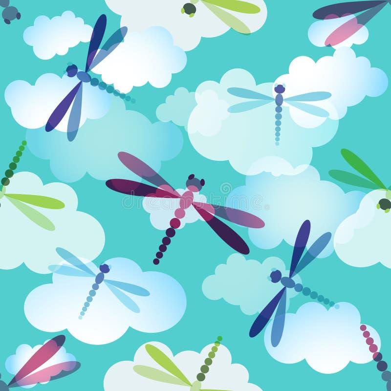 Het naadloze patroon van de lente vector illustratie