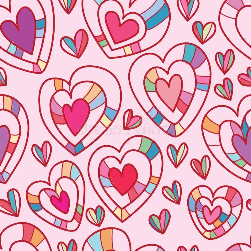 Het naadloze patroon van de liefdelaag royalty-vrije illustratie