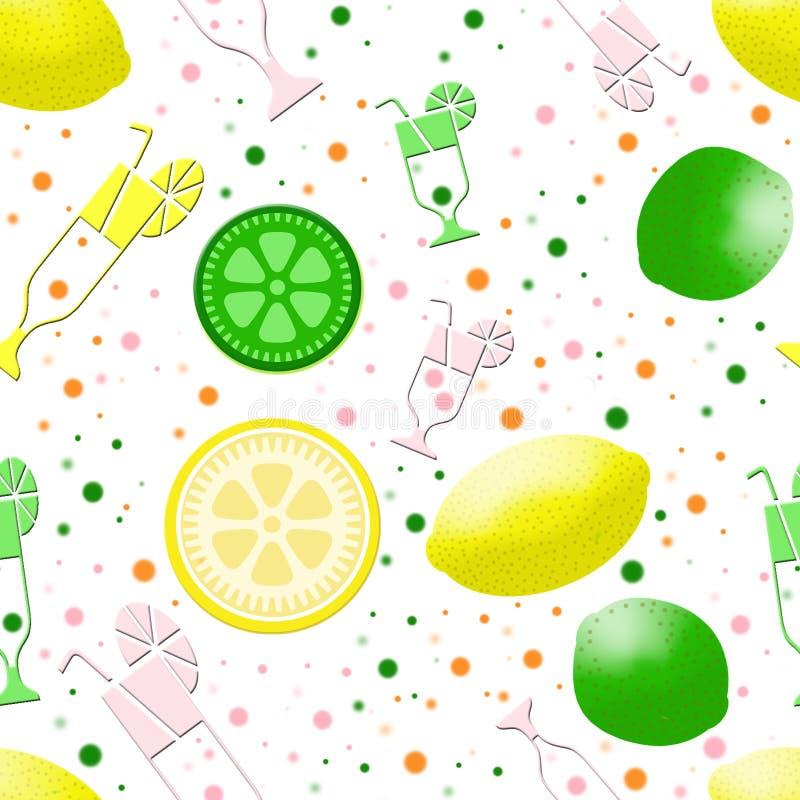 Het naadloze patroon van de limonade stock illustratie