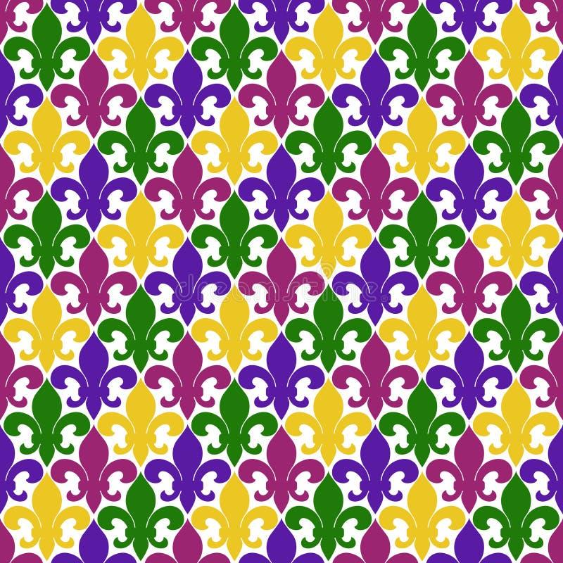 Het naadloze patroon van DE lis van Fleur royalty-vrije illustratie
