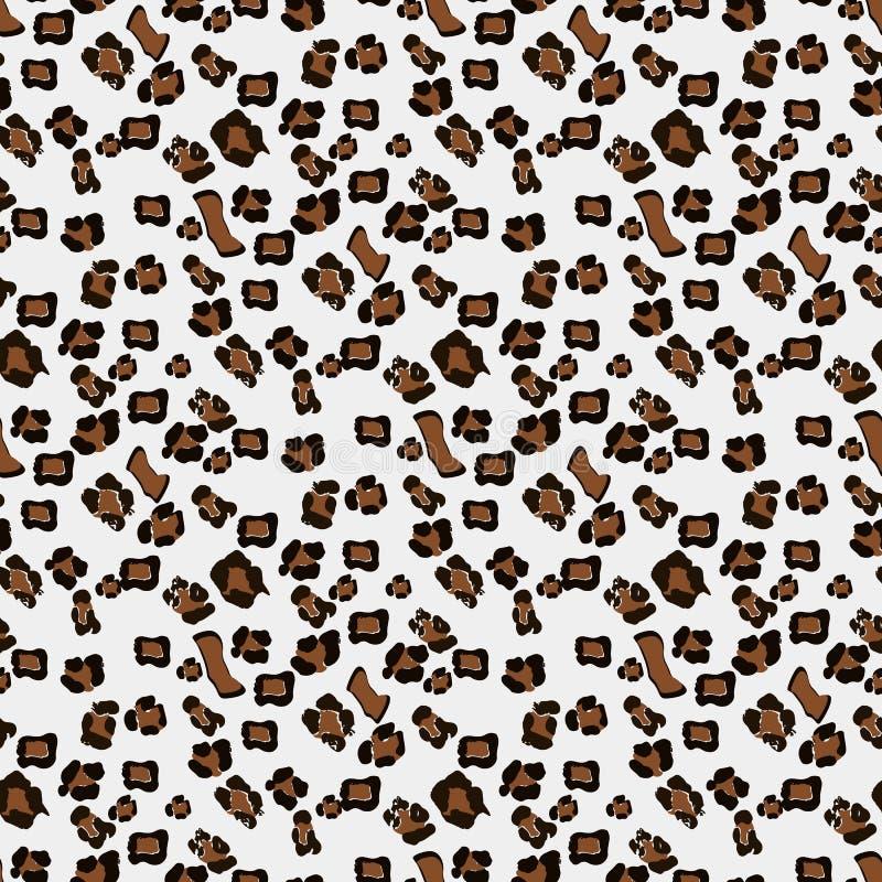 Het naadloze patroon van de luipaard Witte en zwarte naadloos Dierlijke druk Het kan voor prestaties van het ontwerpwerk noodzake stock illustratie