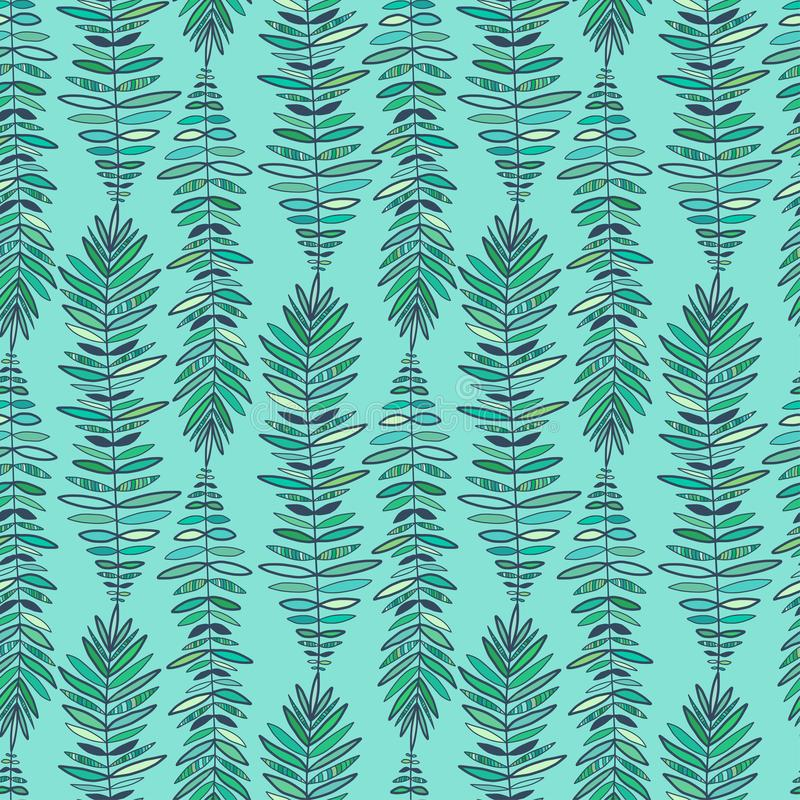 Het naadloze patroon van de manier Moderne turkooise achtergrond Verenpatroon voor manier textieldruk r royalty-vrije illustratie