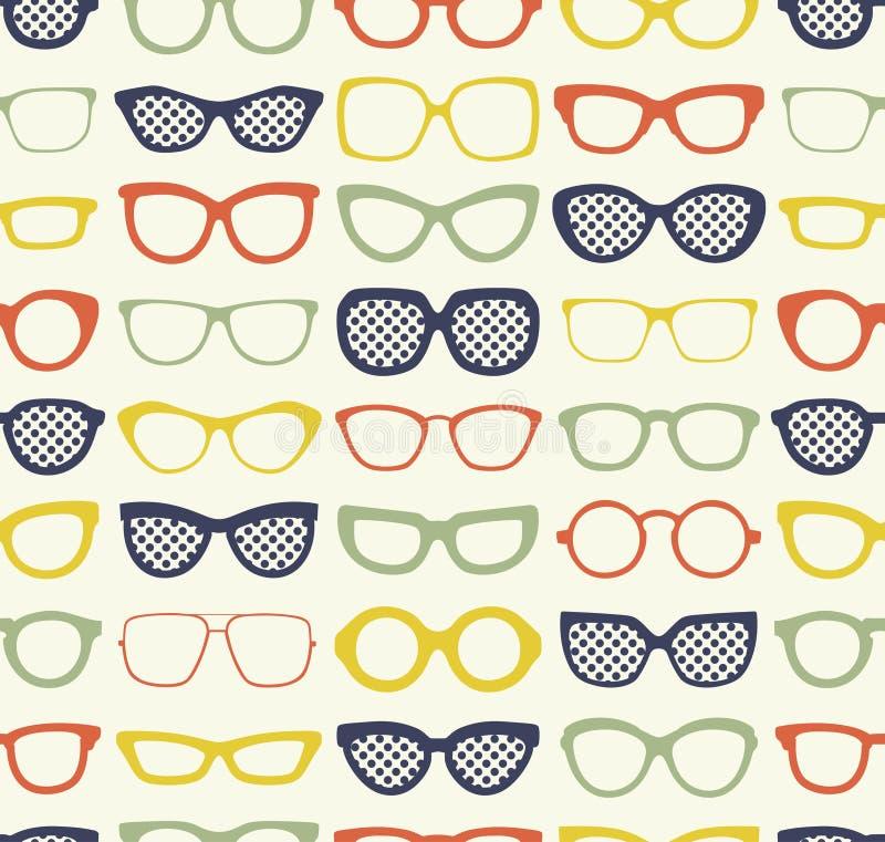 Het naadloze patroon van de oogglazenstof vector illustratie