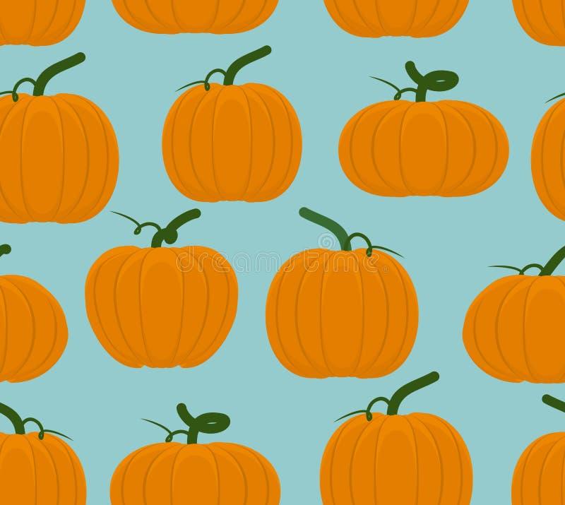 Het naadloze patroon van de pompoen Achtergrond van Oranje Groenten voor Ha stock illustratie