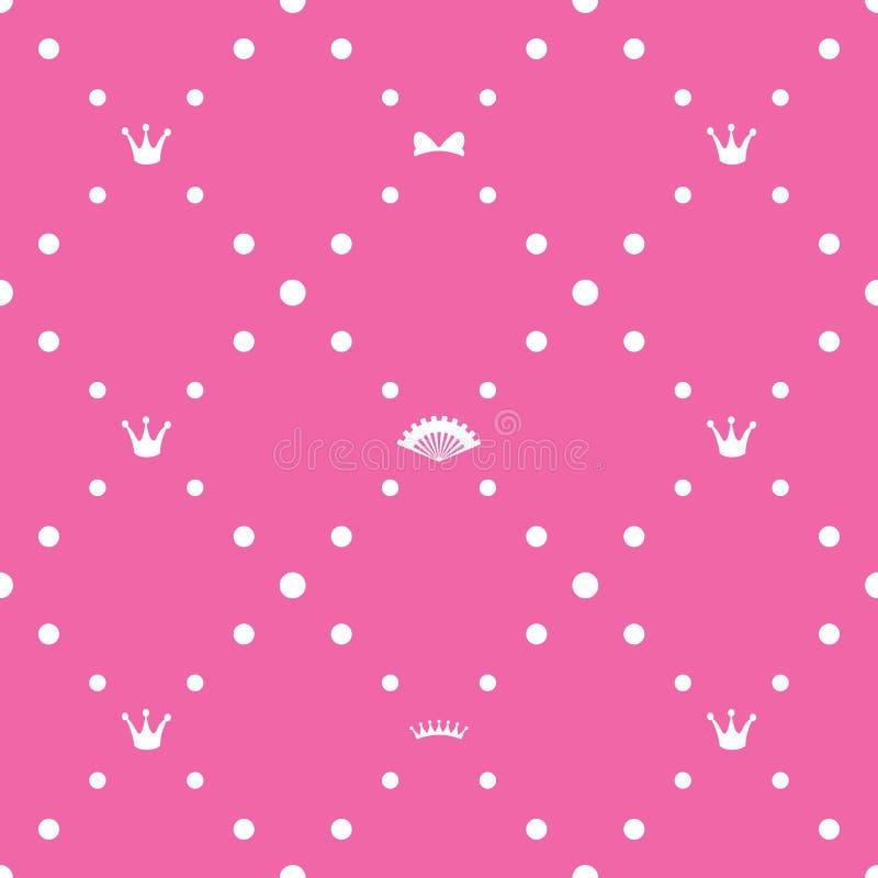Het naadloze patroon van de prinses vector illustratie