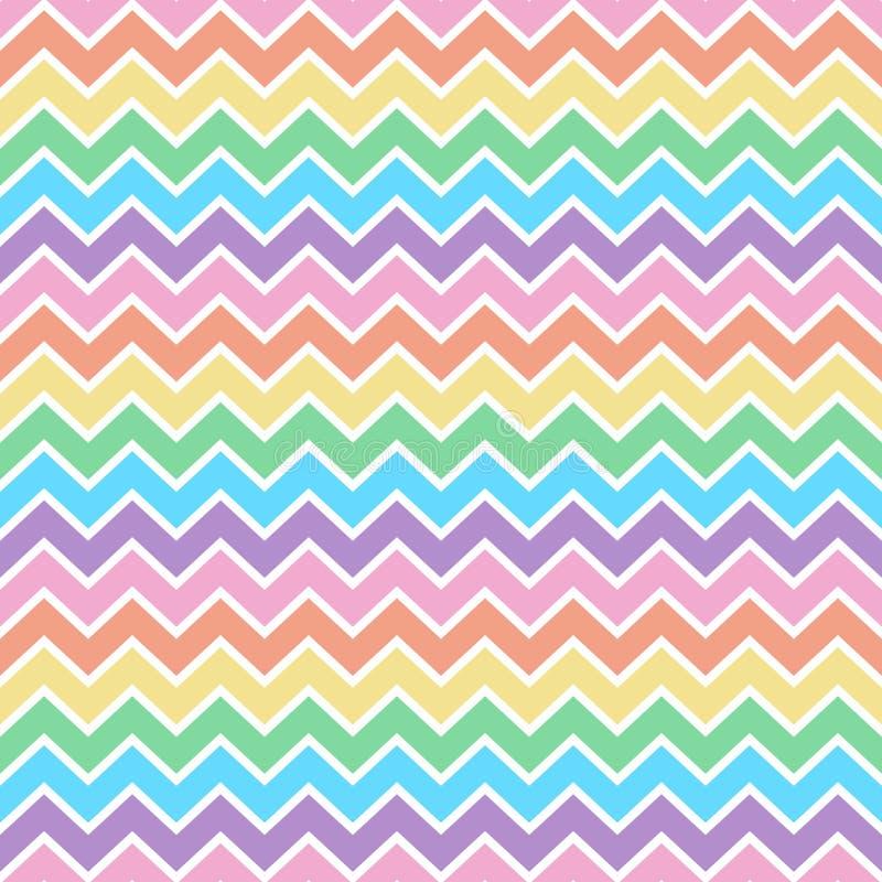 Het Naadloze Patroon van de regenboogchevron stock illustratie
